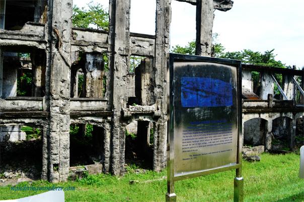 Ruins of Corregidor Island: Middle Side Barracks Close Up