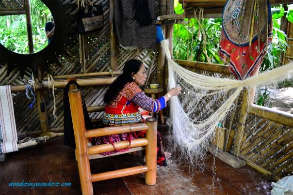 T'boli woman weaving clothes - Lake Sebu, South Cotabato