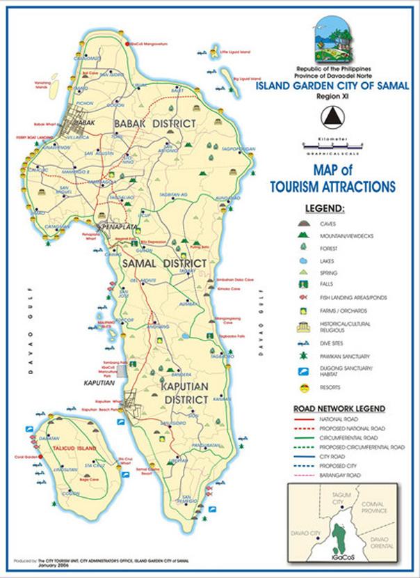 Samal Island Resorts - Map
