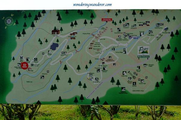 Eden Nature Park Map - Davao City
