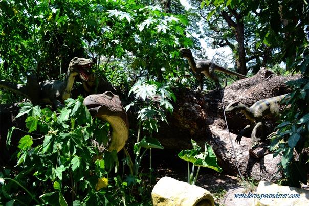 Dinosaurs Island - Clark, Pampanga Velociraptors and Iguanodon