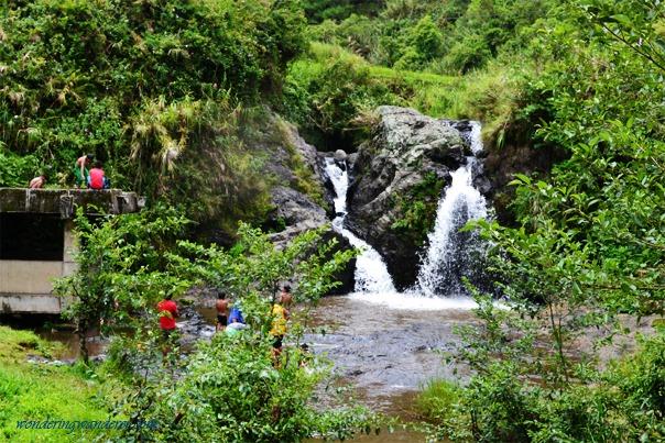 Bokong falls from afar