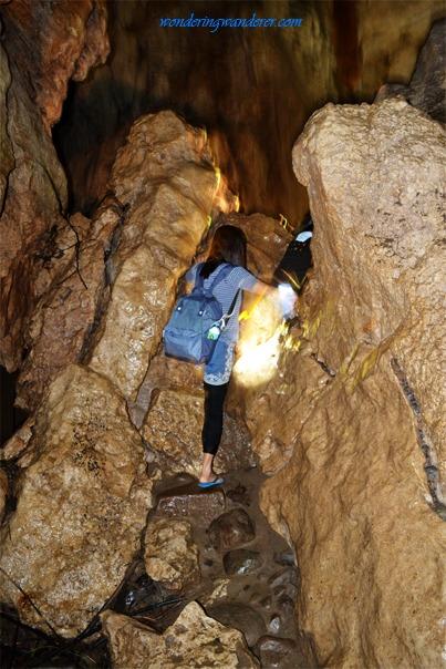 Sagada Underground River's challenging exit