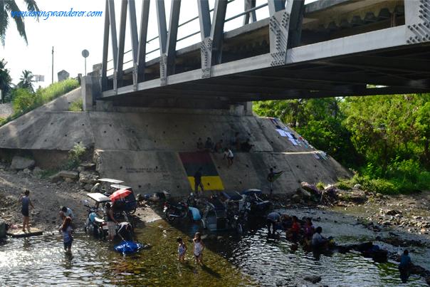 Laundry under the bridge