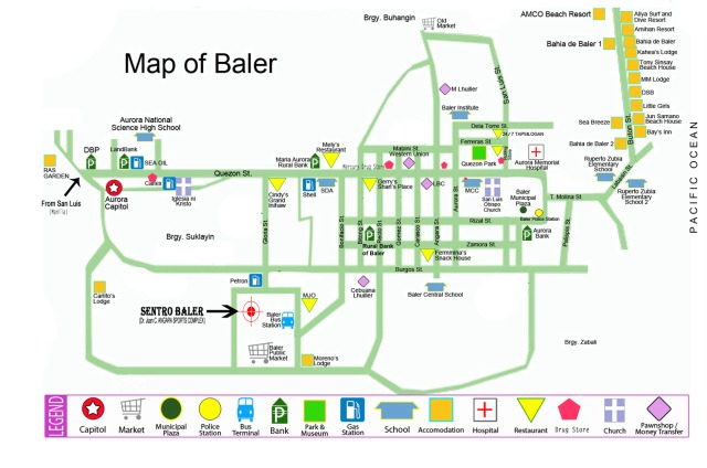 Baler Tourist Map