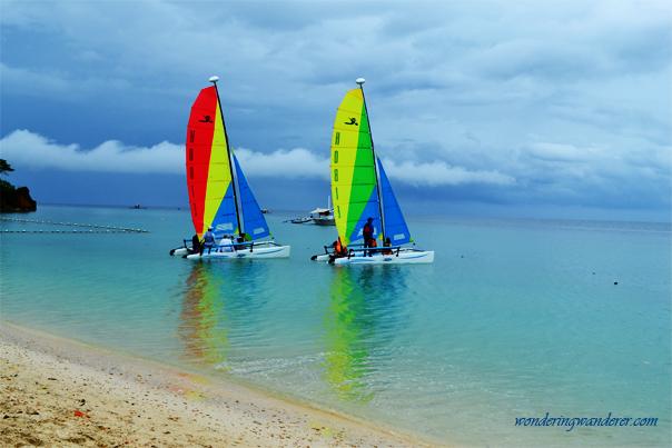 Alubihod Beach's Sailboats