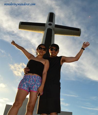 Sunken Cemetery's giant cross