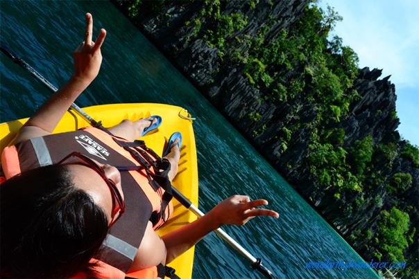 Kayaking at El Nido's Big Lagoon in Palawan