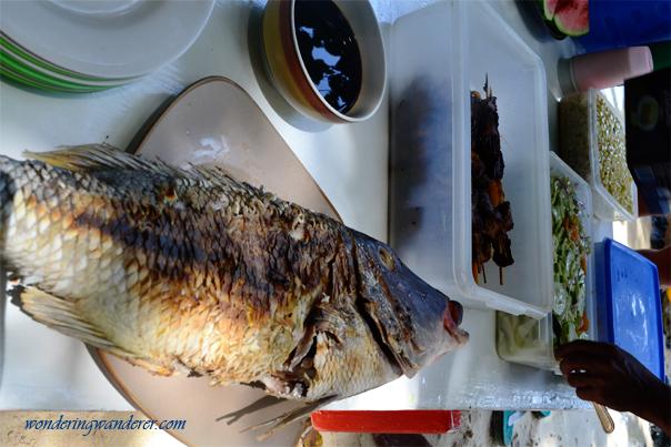 Grilled big fish at Shimizu Island