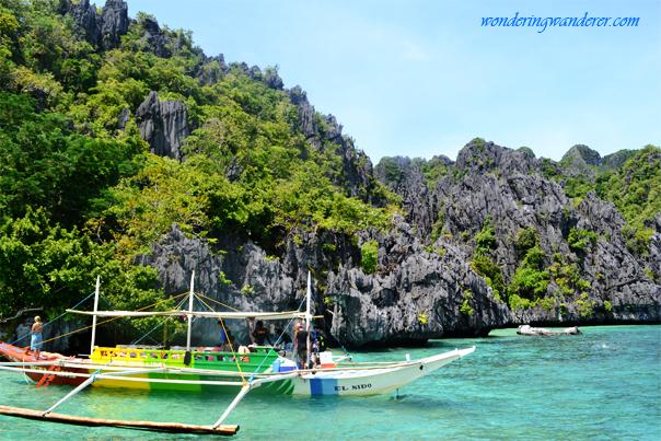 Simizu Island's Boat with Karsts - El Nido, Palawan