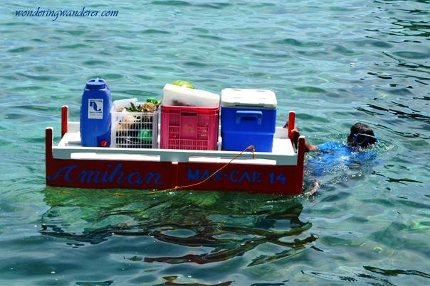 Food supplies at Shimizu Island El Nido