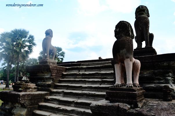 Angkor Wat Lion Statues - Siem Reap, Cambodia