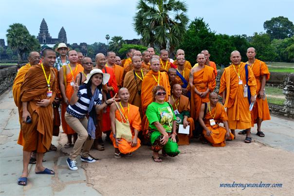 Group of monks at Angkor Wat, Siem Reap - Cambodia