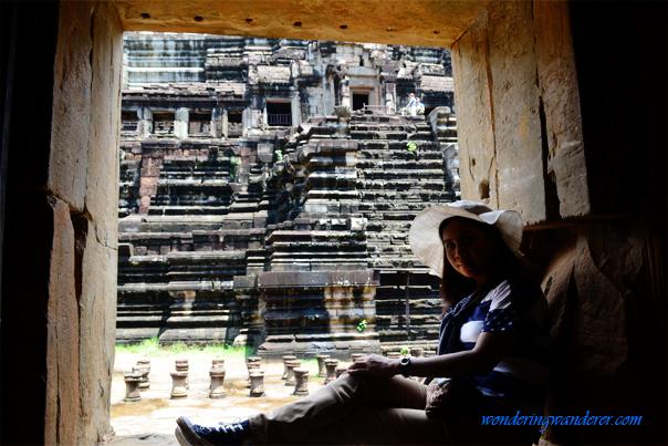 Baphuon temple window view
