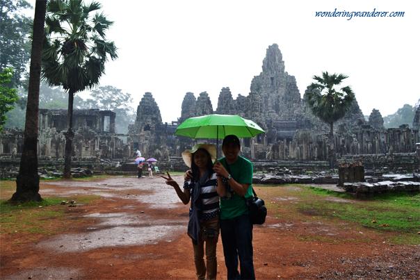 Rainy Day at Bayon Temple