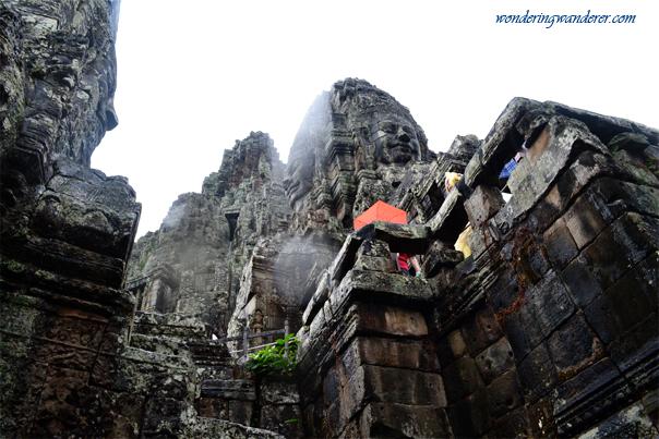 Climbing at Bayon Temple