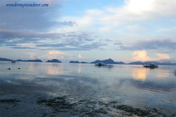 Calm and serene sea of Corong-Corong beach