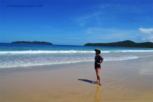 The stretch of Nacpan Beach
