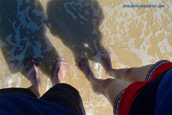 Barefoot at Nacpan Beach