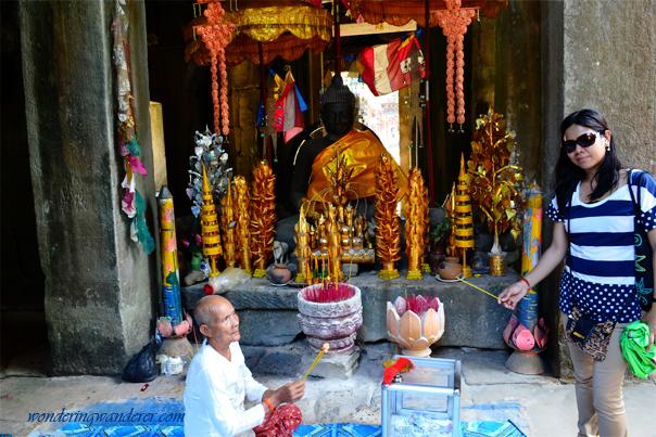 Banteay Kdei's Buddha Statue - Siem Reap, Cambodia