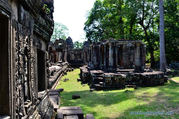 Banteay Kdei's Deteriorating Pillars - Siem Reap, Cambodia