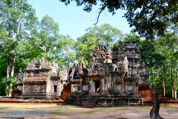 Chau Say Tevoda Temple's Gopura and Library - Siem Reap, Cambodia