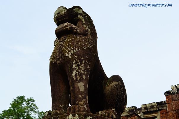 Lion statue at East Mebon Temple