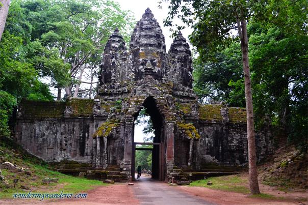 Bayon style gate of Preah Khan - Siem Reap, Cambodia