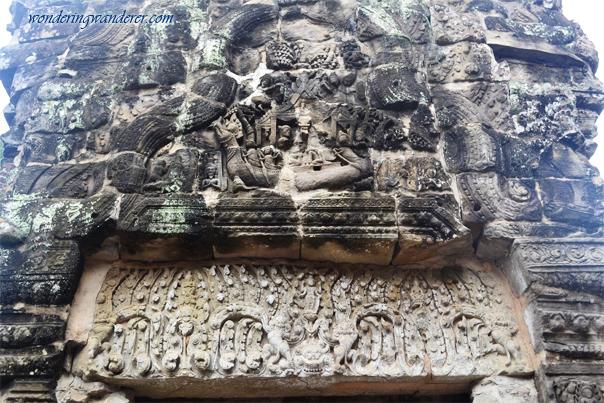 Bas-relief at Preah Khan - Siem Reap, Cambodia