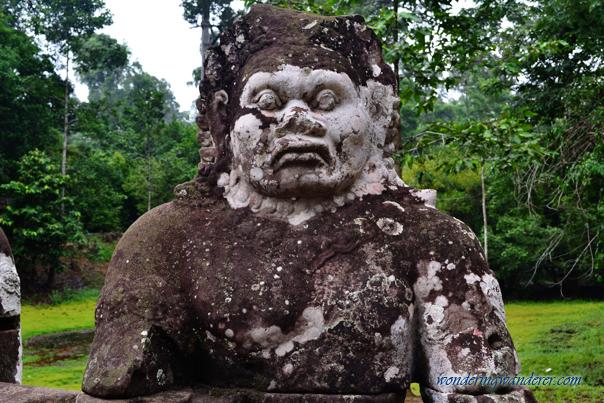Human statue at Preah Khan - Siem Reap, Cambodia