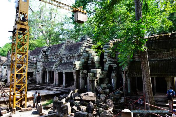 Renovation in Ta Prohm, - Siem Reap, Cambodia