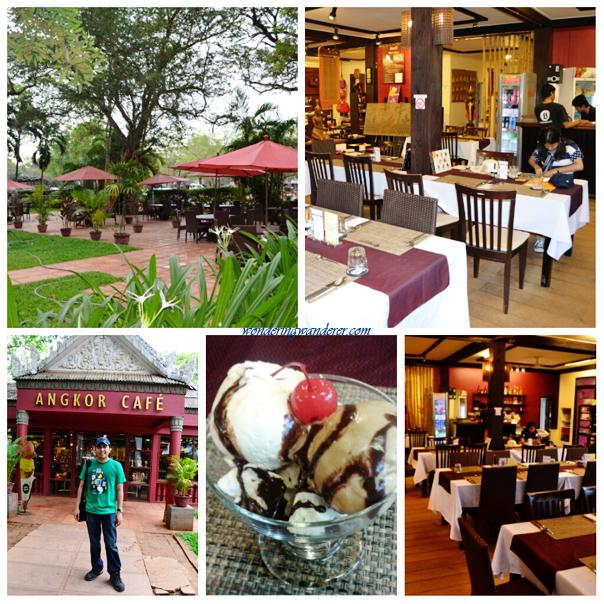 Angkor Café's interior and patio