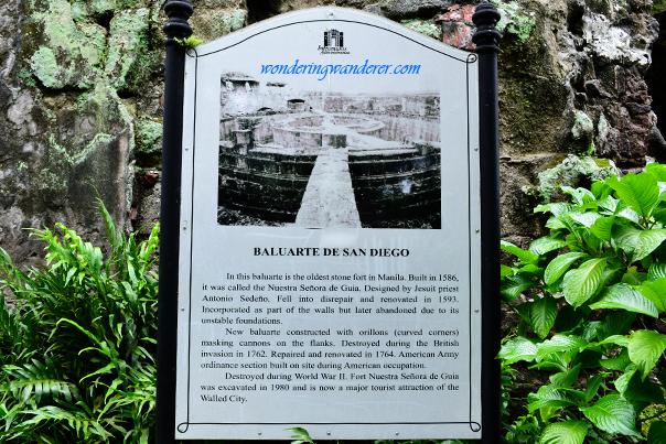 Written Account about Baluarte de San Diego - Manila