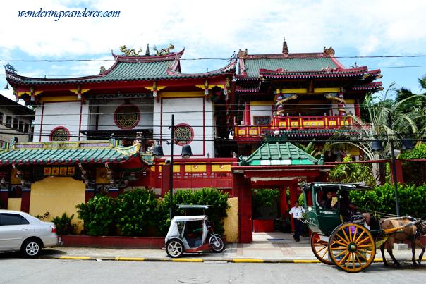 Facade of a Chinese Temple in Binondo, Manila - Philippines