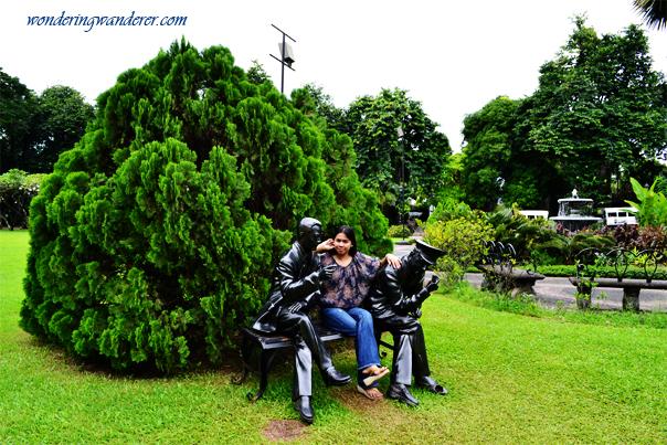 Manuel L. Quezon and Douglas MacArthur statues in Fort Santiago
