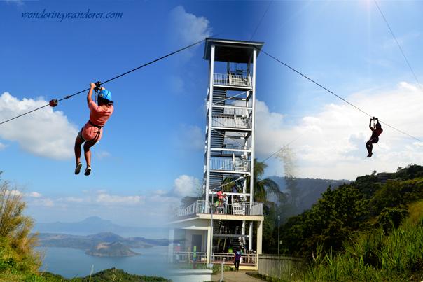 Zipline at Skyfun Amusement Park - Skyranch - Tagaytay Cavite
