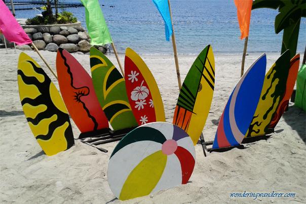 White-sand beach of Ocean Adventure - Subic Bay