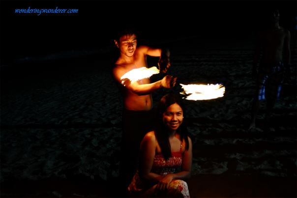 Fire dance at White Beach - Puerto Galera