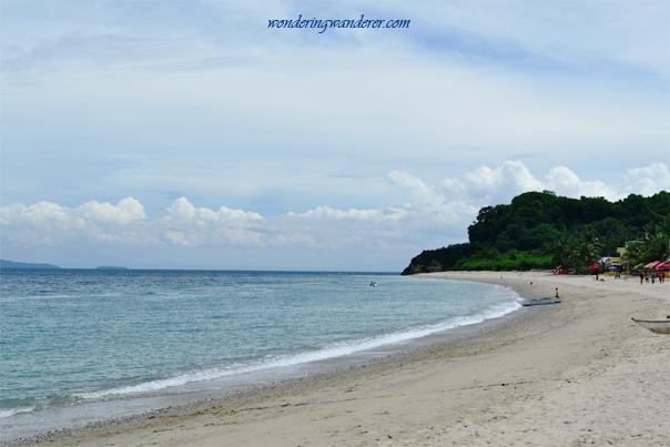 The shore of White Beach
