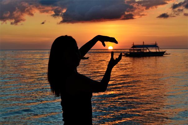 Punta Ballo Beach's amazing sunet
