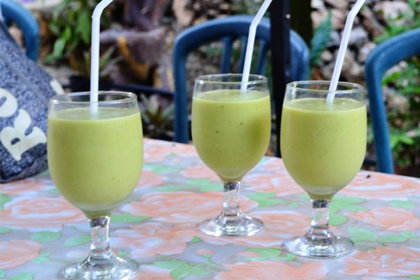 Delicious avocado shake of Tinagong Dagat Island Resort