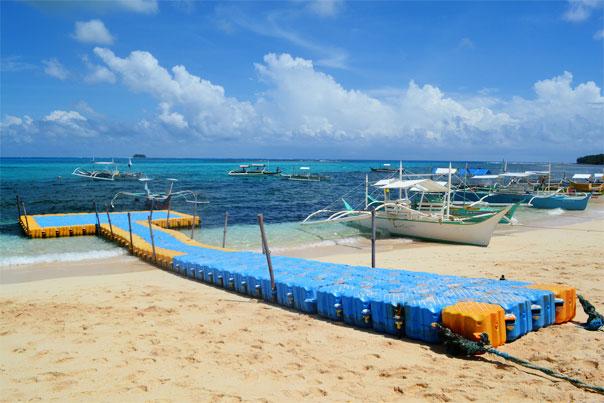 Daku Island's dock - Siargao