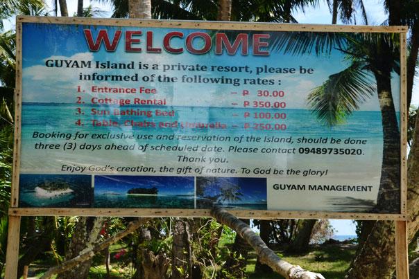 Guyam Island rates