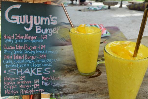 Snack bar of Guyam Island