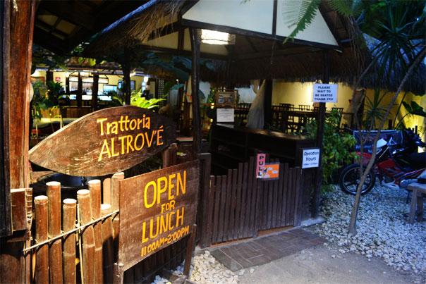 Where to Eat in Siargao? Trattoria Altrov'é