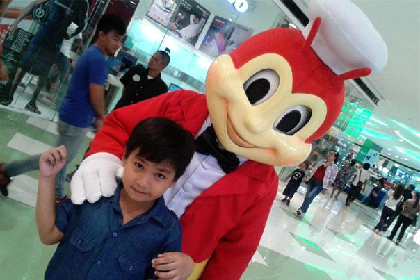 Mascot on mall