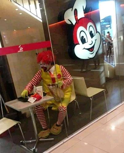 Ronald McDonald at Jollibee