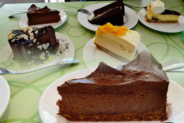 Calea Pastries & Coffee various cake slices