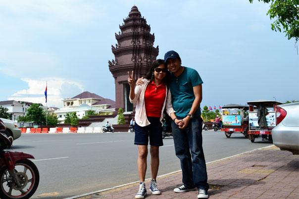 A couple in Phnom Penh