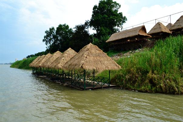 Nipa huts in Phnom Penh